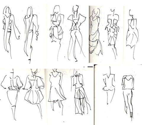 amelias magazine - london college of fashion - paradise lost - Digital Catwalk - jenny robins sketches 2