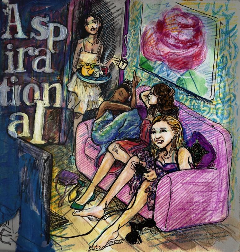 jenny robins - fashion illustration - aspirational. 2014