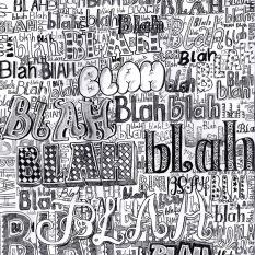 Jenny Robins - blah blah blah typography