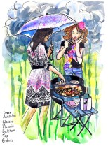 jenny robins - british summertime fashion illustration