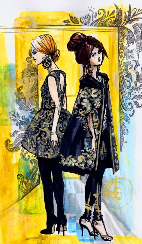 jenny robins - fashion fringe entry - aw2012 - baroque trend - small