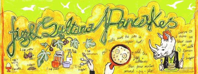 jenny robins - fig and sultana pancakes