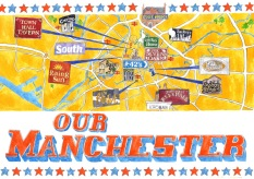 Our Manchester, private map commission, now featured on TheyDrawAndTravel.com, 2013