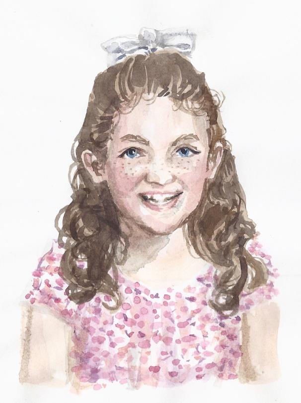 jenny robins - portrait - gracie watercolour