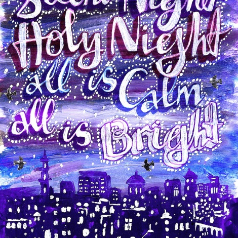 Silent Night, a Christmas card design from 2009