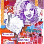 jenny robins - spoonbills are thinking about britney spears