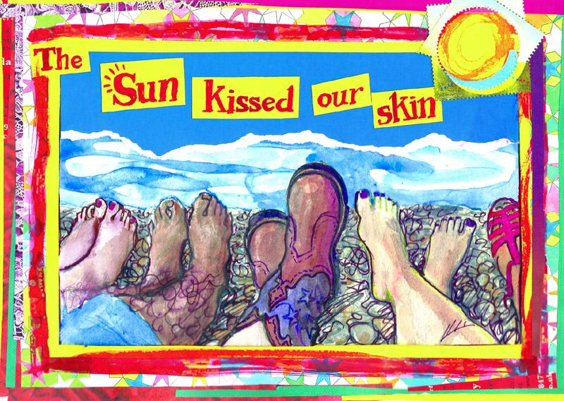 jenny robins - the sun kissed our skin - brighton beach
