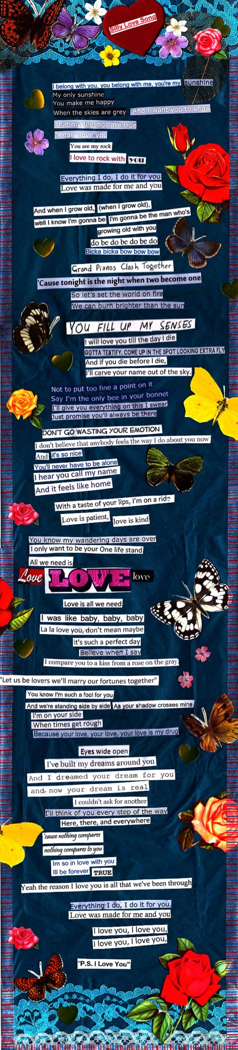 jenny robins - wedding - design - collage - silly love song - long version