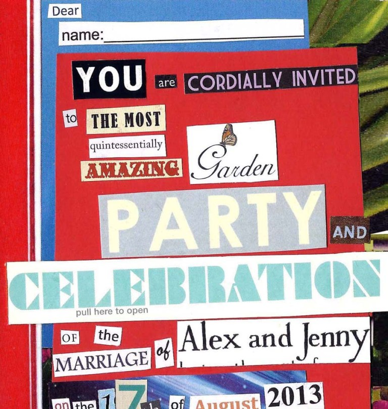 jenny robins - wedding invite - cover
