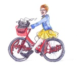 jenny robins - logo design - proof reader - bicycle - proofessor Laura web