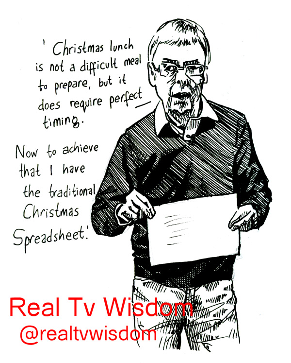 real tv wisdom - jenny robins - Christmas in a Day - Sainsburys - spreadsheet guy