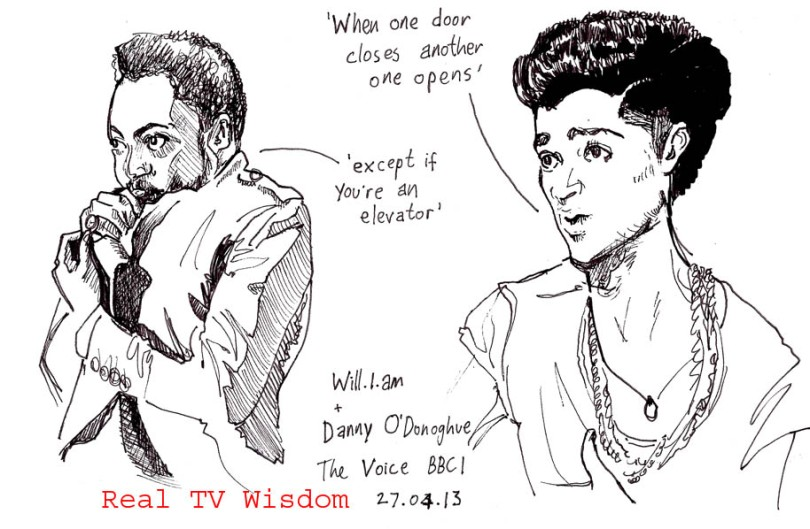 real tv wisdom - jenny robins - the voice - william - danny odonoghue