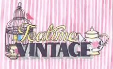 Teatime Vintage, logo design commission 2012