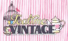 Teatime Vintage, logo design commission 2012