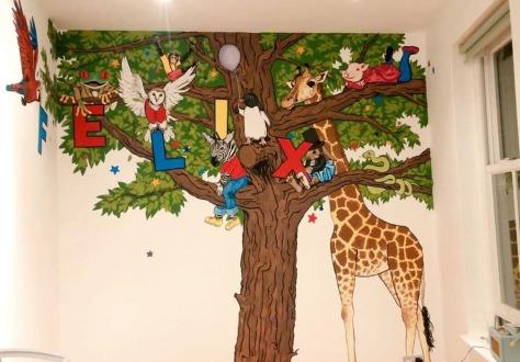 jenny robins - illistrations - kidslit art - mural - felix 1