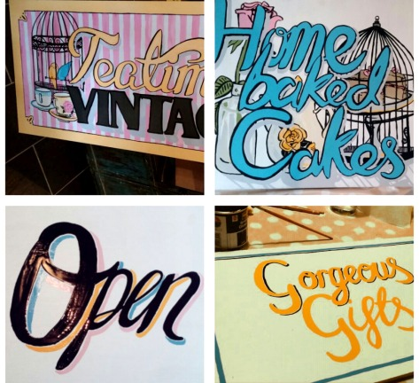 jenny robins - teatime vintage - hand painted signs