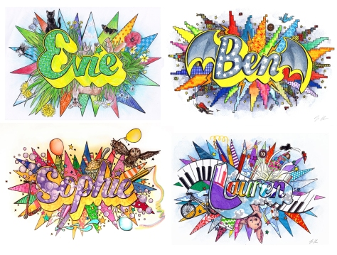 jenny robins - typography design - name illustrations - children - little carousel gallery