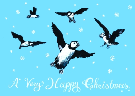 jenny robins - puffins - christmas 2017